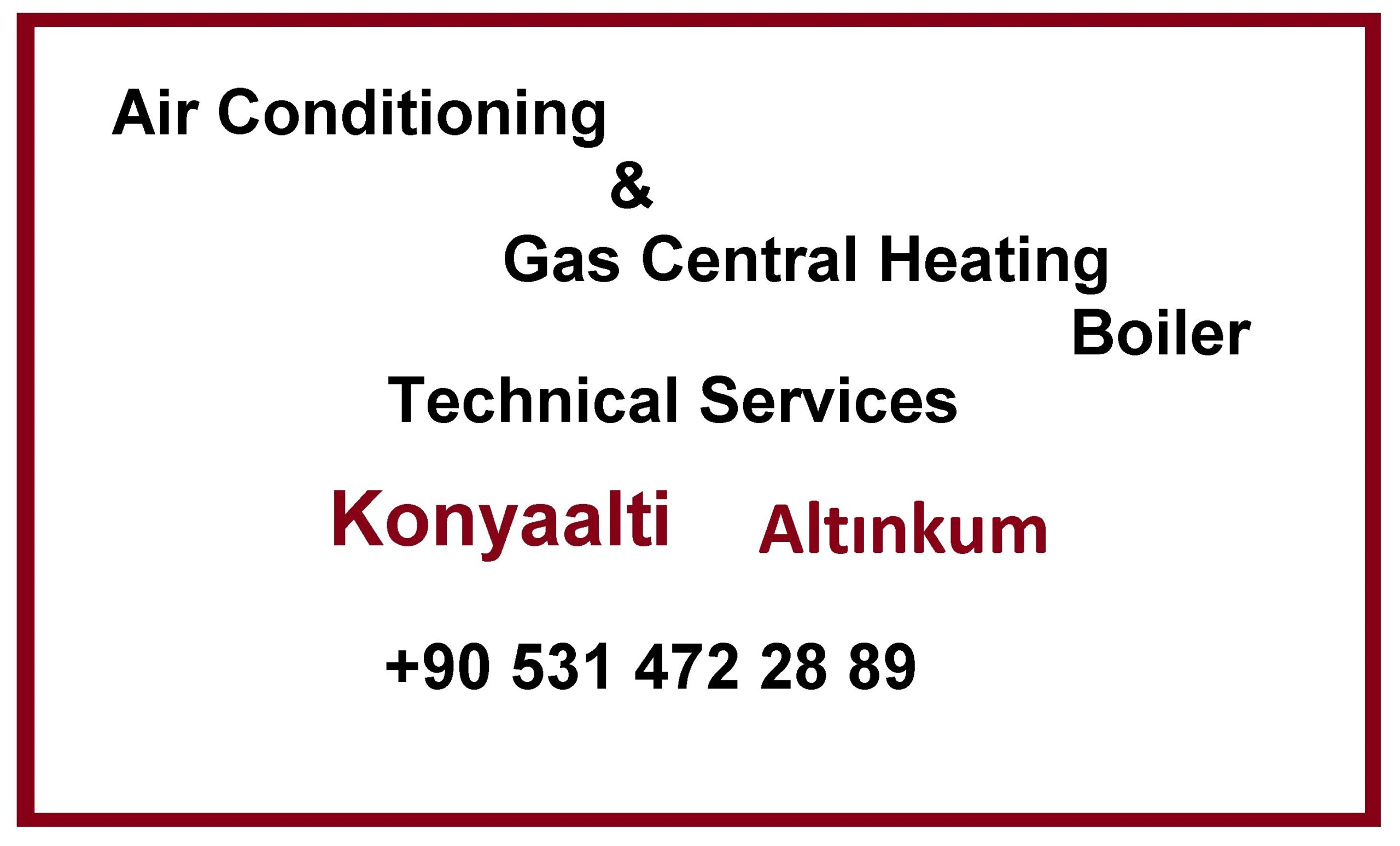 Air Conditioning, Gas Central Heating TS in Altınkum